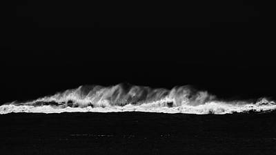 Photograph - Waves In Black And White by Jorg Becker