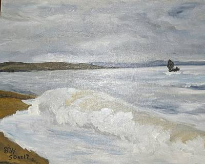 Painting - Waves On A Beach by Amber Nicole