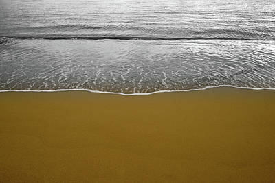 Photograph - Waves On The Seashore On The Golden Sand by Vicen Fotografia