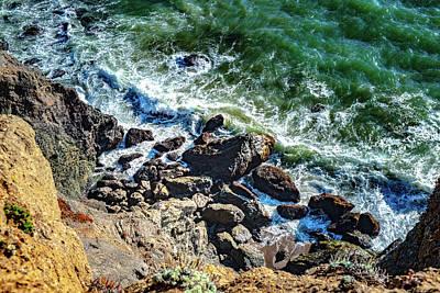 Photograph - Waves Reaching Rocky Coast by Judith Barath