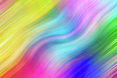 Photograph - Wavy Colorful Abstract #1 - Yellow Blue Pink by Patti Deters
