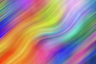 Photograph - Wavy Colorful Abstract #3 - Yellow Blue Pink Purple by Patti Deters