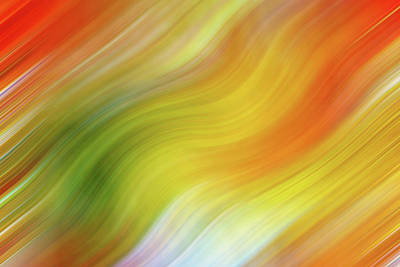 Photograph - Wavy Colorful Abstract #4 - Yellow Green Orange by Patti Deters