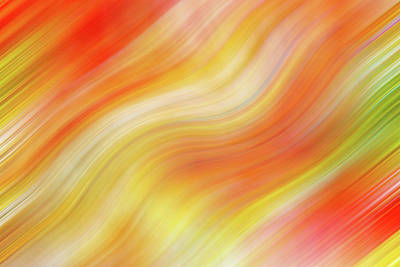 Photograph - Wavy Colorful Abstract #5 - Yellow Orange by Patti Deters