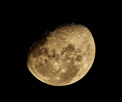 Photograph - Waxing Moon by Werner Kaffl