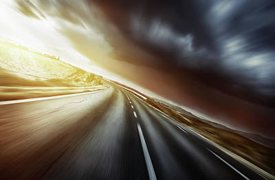 Photograph - Way Forward In Motion by Da-kuk