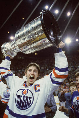 Photograph - Wayne Gretzky Celebrates With The by B Bennett