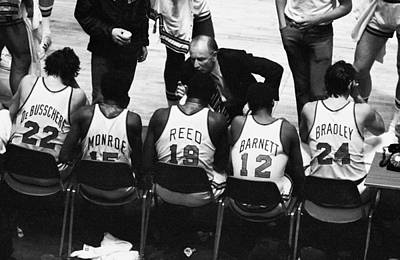Photograph - We Prefer Knicks 2 To 1. Coach Red by New York Daily News Archive