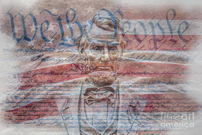 Politicians Digital Art - We The People Abraham Lincoln  by Randy Steele