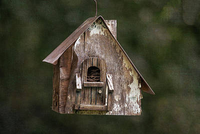 Photograph - Weathered Bird House by Dale Kincaid