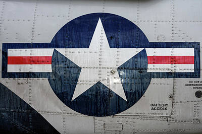 Photograph - Weathered Navy Roundel by Chris Buff