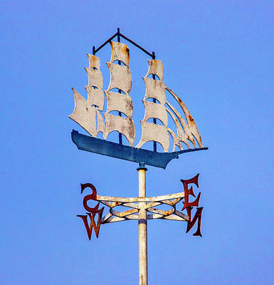 Photograph - Weathervane Ship by Garry Gay