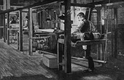Weaver At Warners Art Print by Hulton Archive