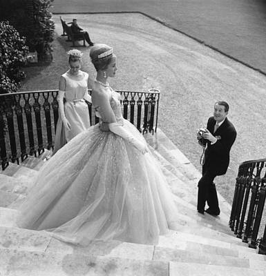 Photograph - Wedding Dress by Evening Standard