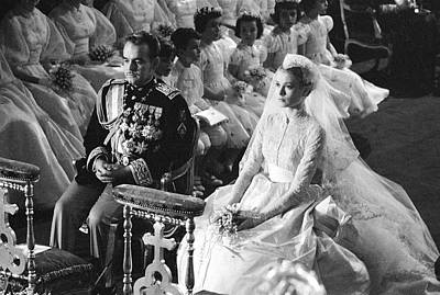 Photograph - Wedding Of Prince Rainier & Grace Kelly by Thomas D. Mcavoy