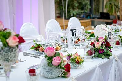 Photograph - Wedding Table by Top Wallpapers