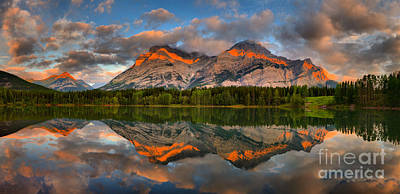 Photograph - Wedge Pond Orange Sunrise Reflections by Adam Jewell