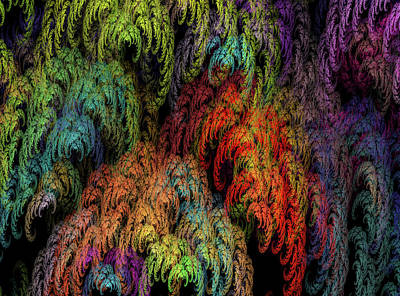 Digital Art Rights Managed Images - Weeping Willow Fractal Royalty-Free Image by Betsy Knapp
