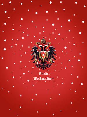 Digital Art - Weihnachtliche Habsburg Doppeladler by Helga Novelli