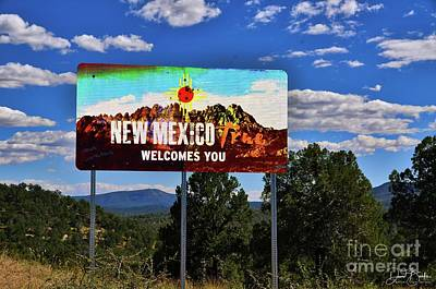 Welcome To New Mexico Art Print by David Burks