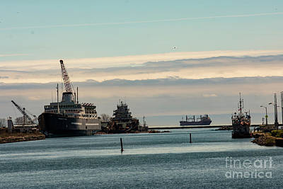 Photograph - Welland Canal Ships by JT Lewis