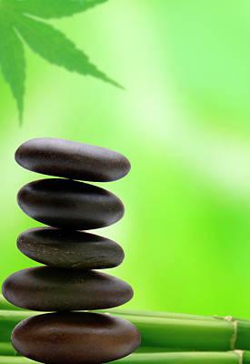 Bamboo Wall Art - Photograph - Wellbeing by Pixhook