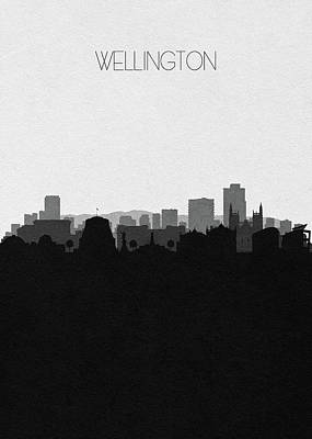 Digital Art - Wellington Cityscape Art by Inspirowl Design