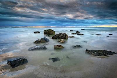 Photograph - Wells Beach In Blue by Rick Berk