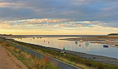 Photograph - Wells Next The Sea Harbour Sunset by Gill Billington