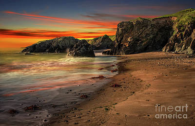 Photograph - Welsh Coast Sunset by Adrian Evans
