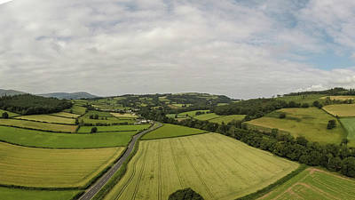 Photograph - Welsh Countryside By Drone by John McGraw