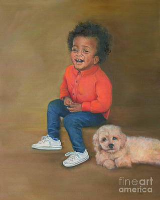 Painting - Wendell And Honey by Marlene Book