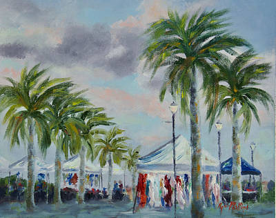 Painting - Wenesday Market by Rosie Phillips