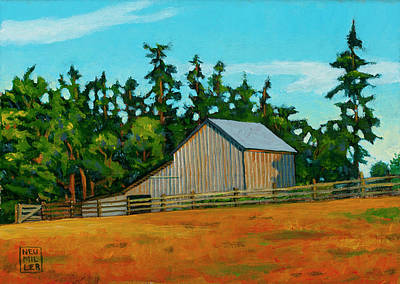 Painting - West Beach Barn by Stacey Neumiller