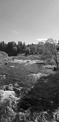 Summer Trends 18 - West Burke Vermont River B W by Rob Hans