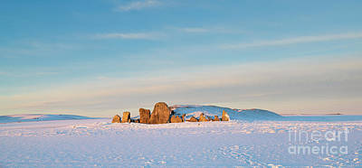 Photograph - West Kennet Long Barrow In The Winter Snow by Tim Gainey