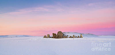 Photograph - West Kennet Long Barrow In The Winter Twilight by Tim Gainey