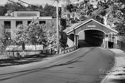 Photograph - West Swanzey Main Street Bridge Black And White by Adam Jewell