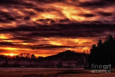 Photograph - West Virginia Mountain Sunrise by Thomas R Fletcher