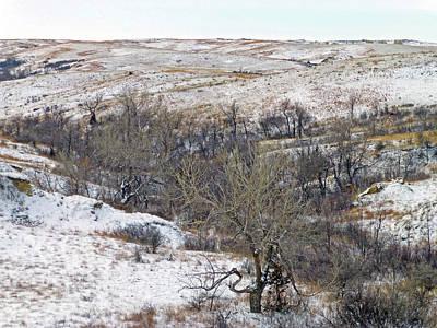 Photograph - Western Edge Winter Hills by Cris Fulton