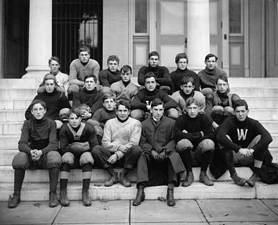 Painting - Western High Football C1905 Harris   Ewing Photographer by Celestial Images