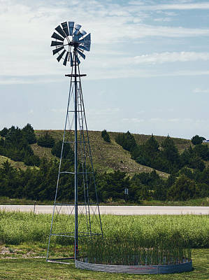 Photograph - Western Nebraska Windmill by Edward Peterson