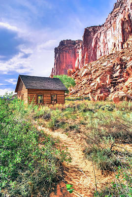 Photograph - Western Utah Landscape And Old Home by Gregory Ballos