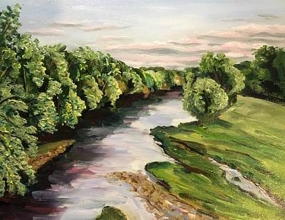 Ps I Love You - Westfield River-August Evening by Richard Nowak
