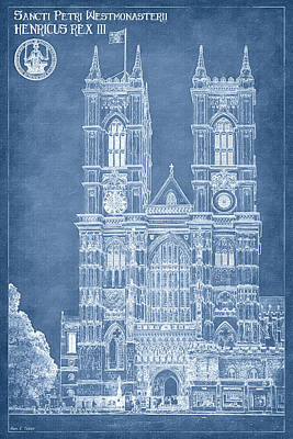 Digital Art - Westminster Abbey Foundations - Blueprint For A Legacy by Mark E Tisdale