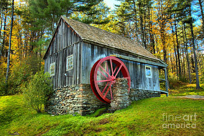 Photograph - Weston Vermont Grist Mill by Adam Jewell