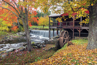 Photograph - Weston Vermont - Grist Mill by Expressive Landscapes Nature Photography
