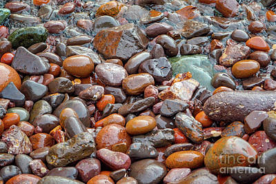 Photograph - Wet Beach Stones by Susan Rydberg