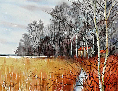 Painting - Wetlands Edge by Art Scholz