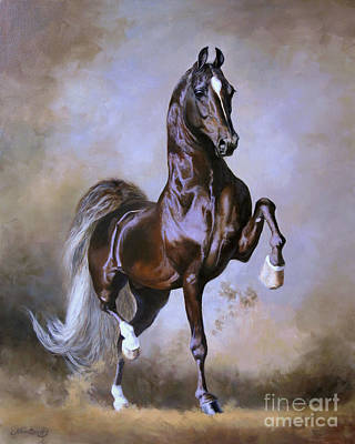 Stallion Wall Art - Painting - Wgc Sir Silver Knight by Jeanne Newton Schoborg